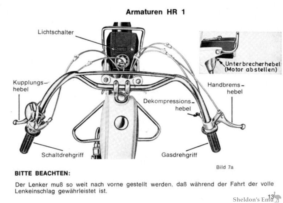Hercules 1973 HR1 Moped