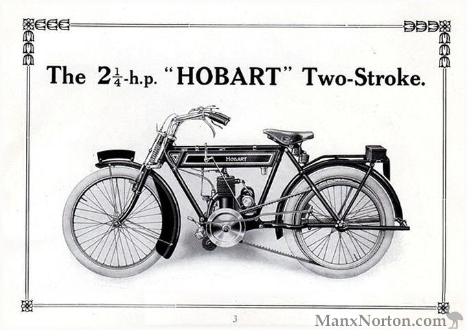 Hobart 2¼ h.p. Two-stroke 1914