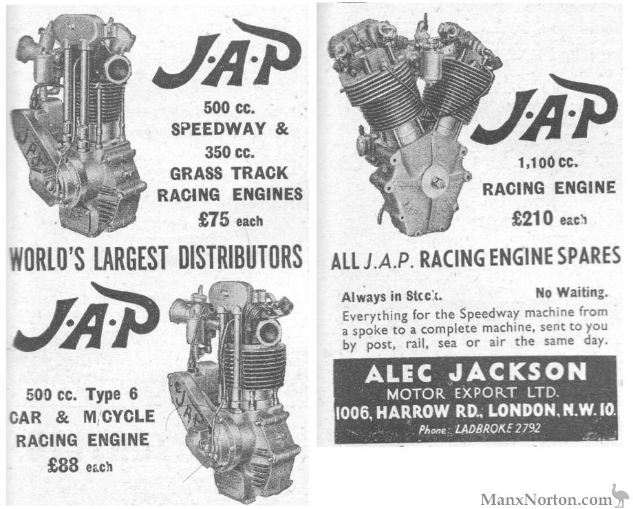 JAP 1952 JAP Engines Alex Jackson