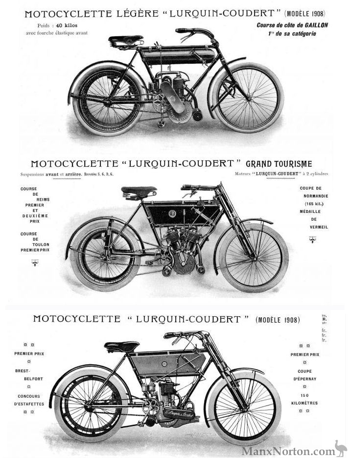 Lurquin and Coudert Motorcycles and Tricars