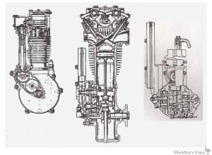 Matchless LR2 OHC 350cc Engine Diagrams
