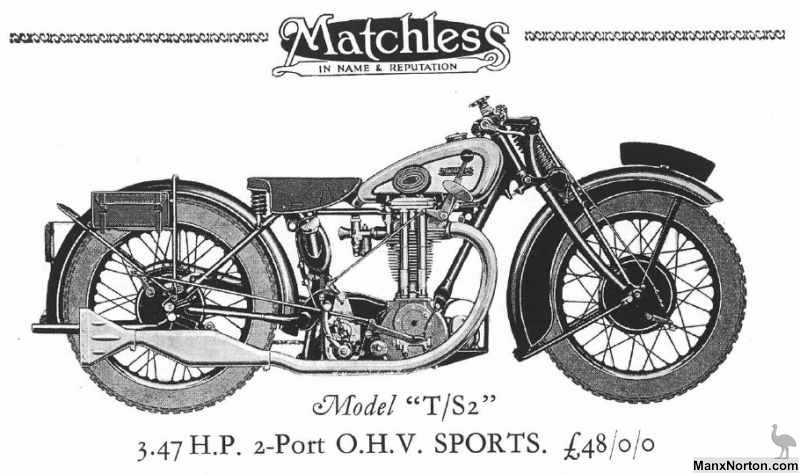Matchless Model T/S2 1930 Drawing