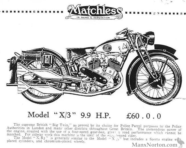 Matchless 1932 X3 9.9HP V-Twin