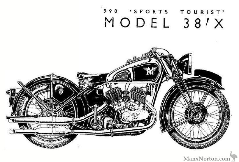 Matchless 1938 Model X 990cc V-Twin