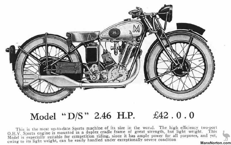 Matchless 1931 Catalogue Model D/S