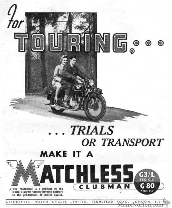 Matchless 1946 G3L & G80