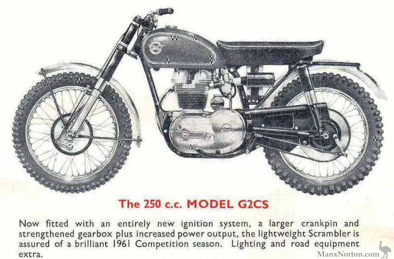 Matchless 250cc G2CS 1961