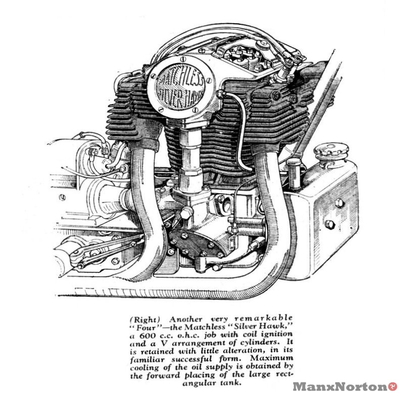 Matchless 1934 Silver Hawk Engine