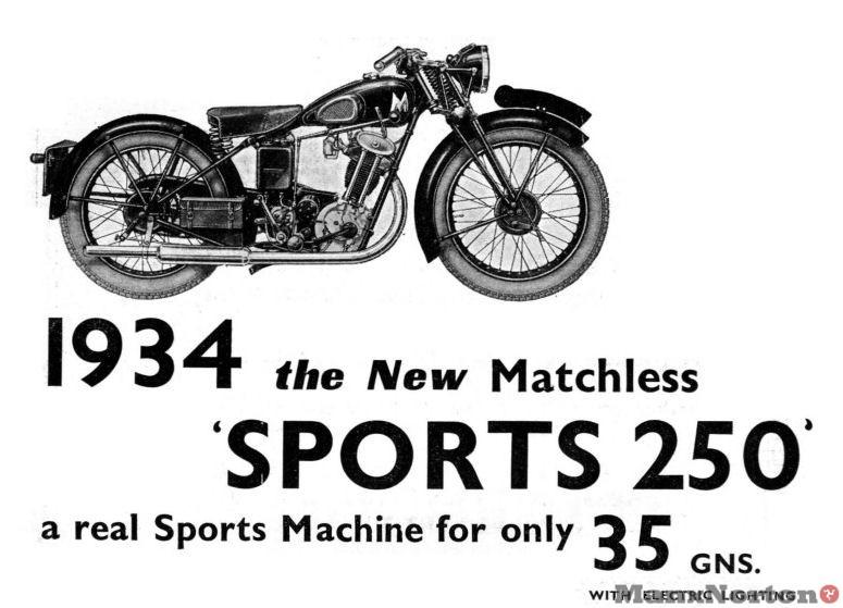 Matchless 1934 Sports 250