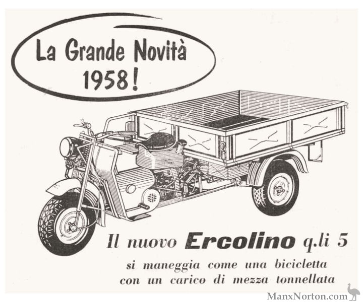 Moto Guzzi 1958 Ercolino Advert