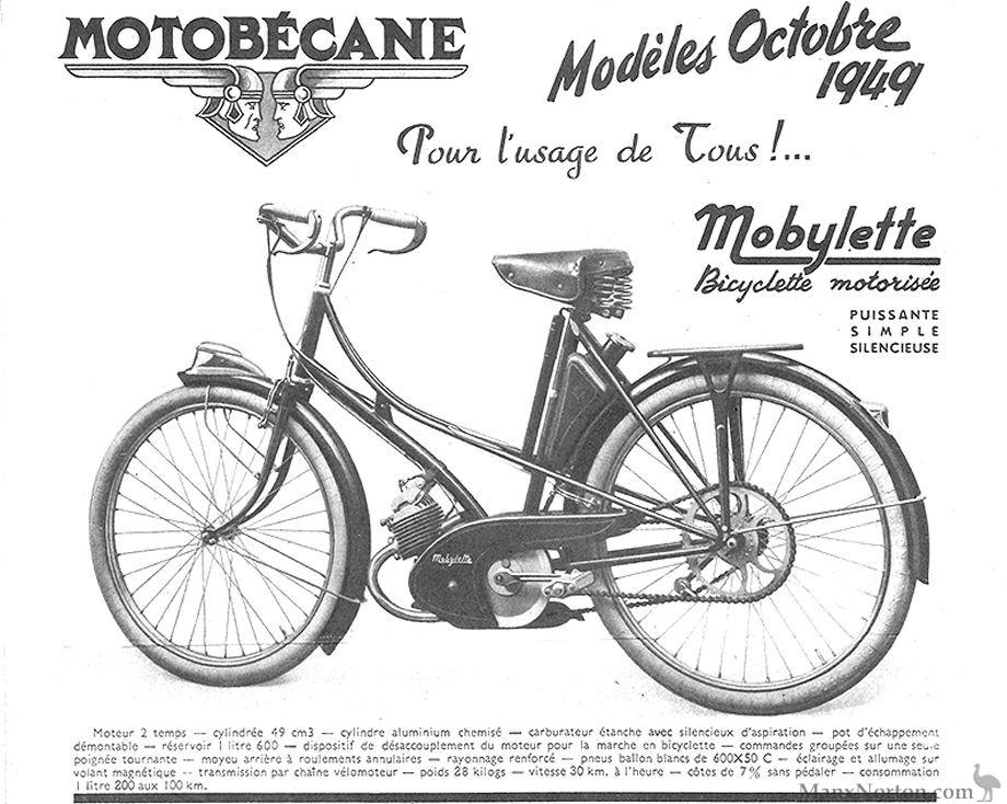 Motobecane 1949 Mobylette 49cc