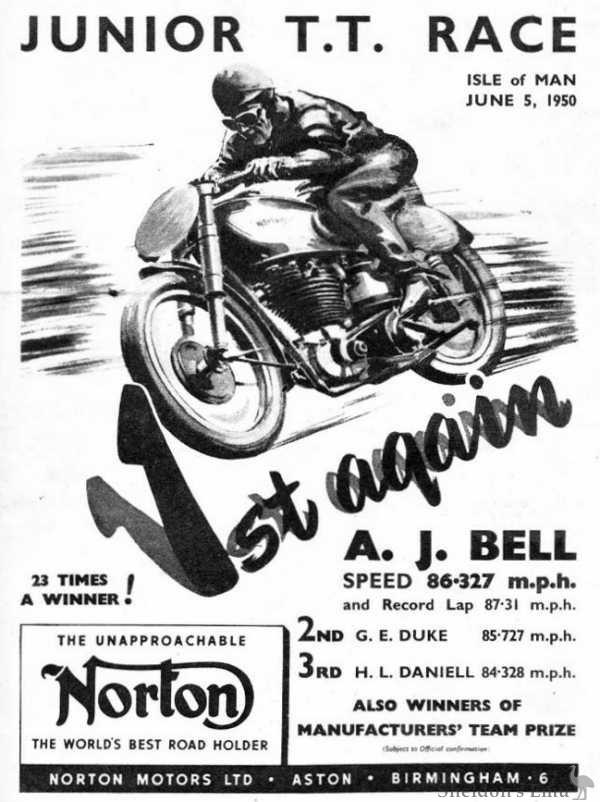Norton TT Winner 1950