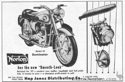 Norton Dominator 99 1957 Advertisement