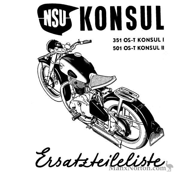 NSU 1951 Konsul 351 et 501