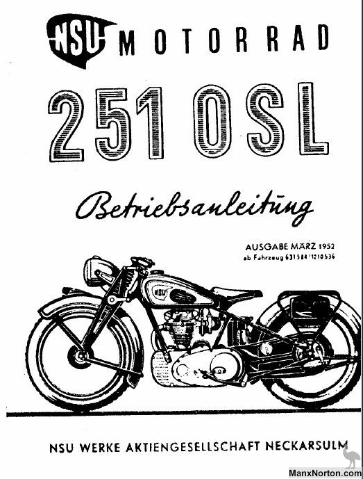 NSU 1951 OSL251