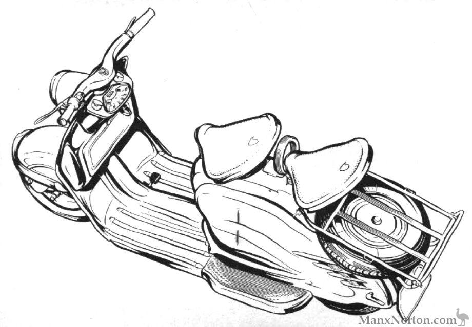 NSU 1956 Prima Drawing