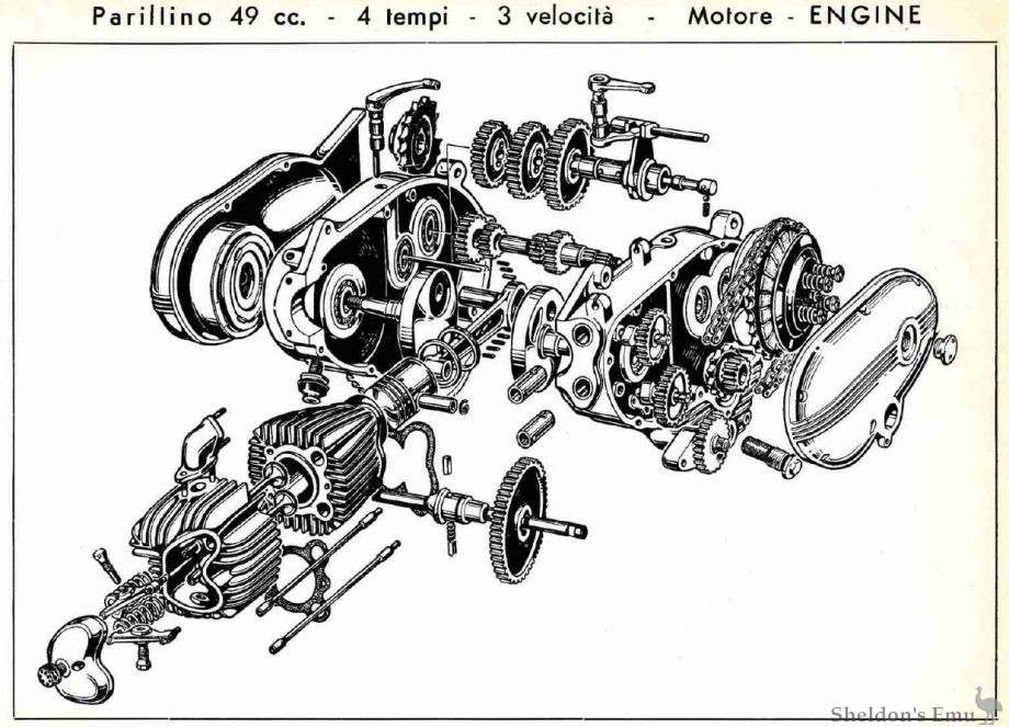 49cc scooter wiring diagram 240 volt parilla 1958 parillino engine