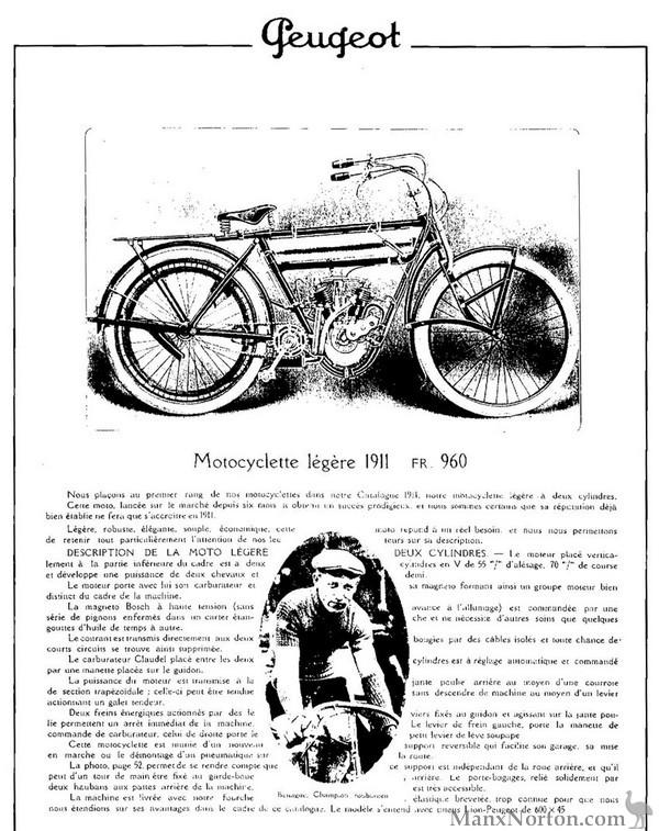 Peugeot 1911 V-Twin
