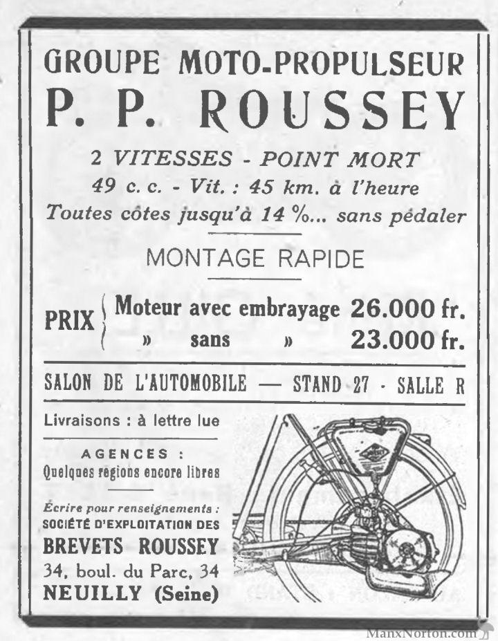 PP Rousey 1948 Moto-Propulseur