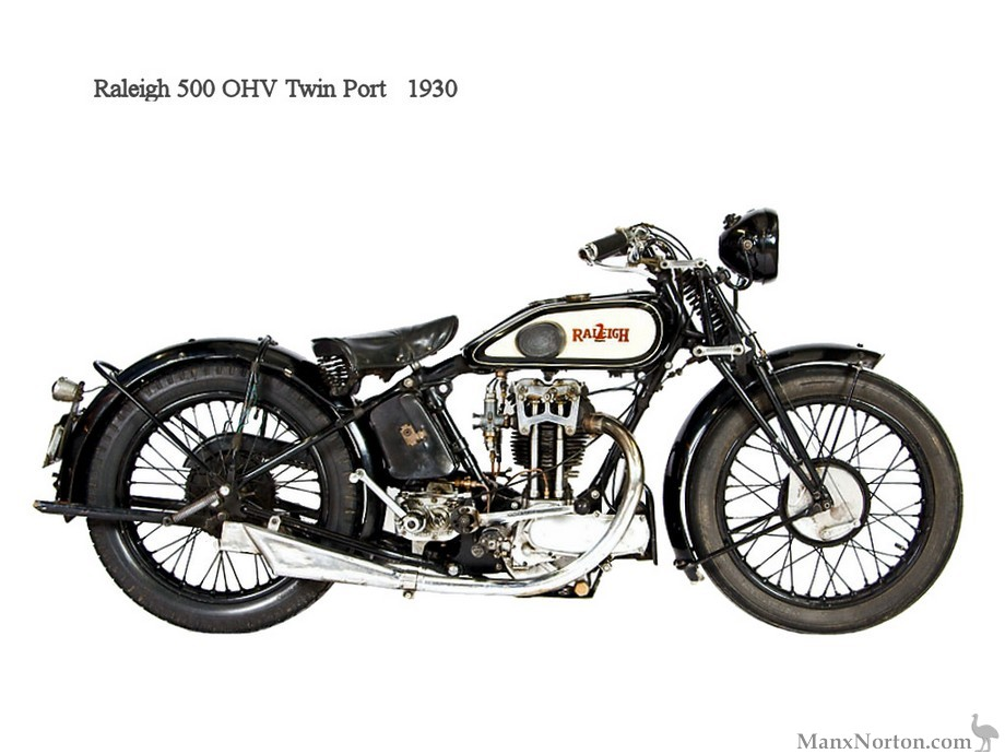Raleigh 1930 OHV Twin Port 500cc