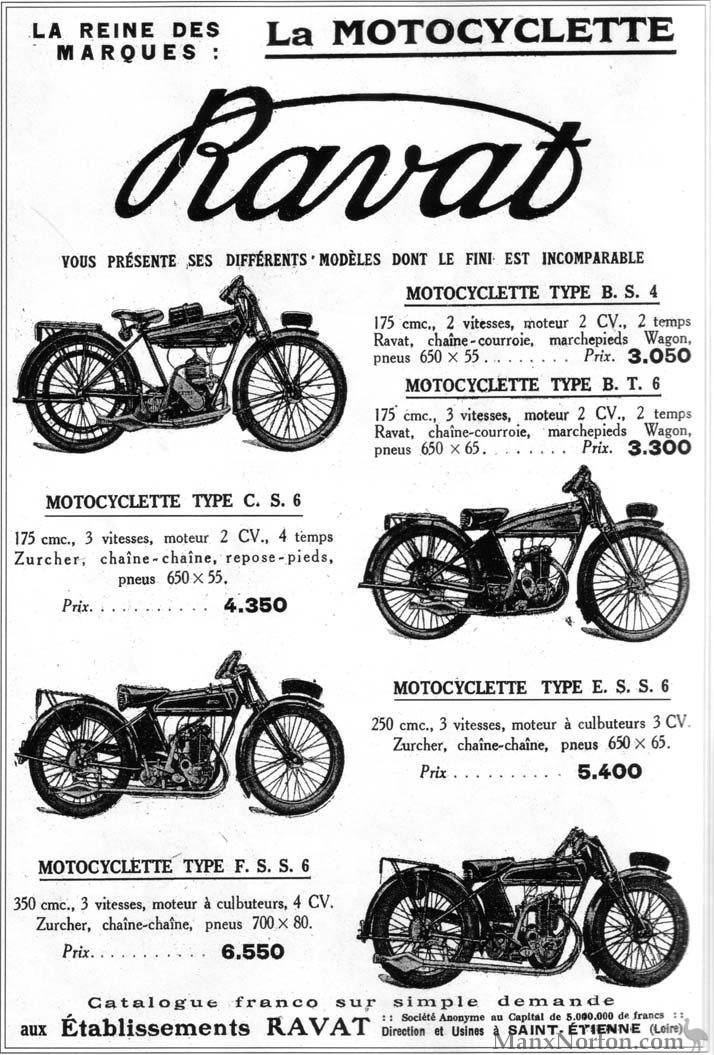 Ravat 1925c Motocyclette