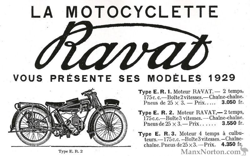 Ravat 1929 175cc Motocyclette