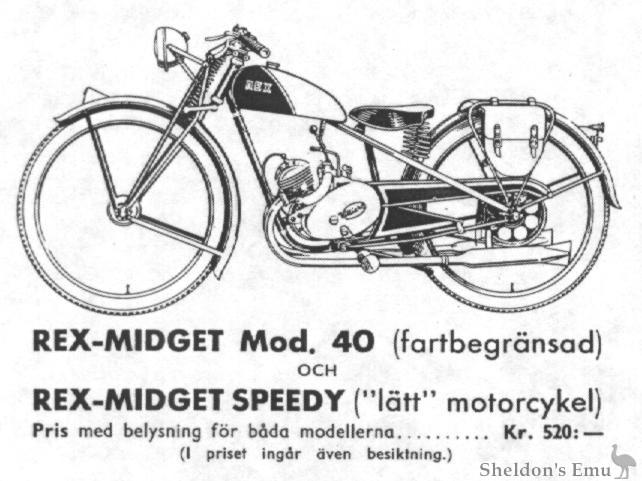 Rex Midget Speedy & Model 40, 1939