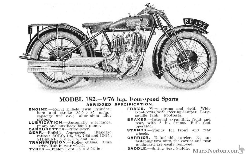 Royal Enfield Model 182 976cc 1928