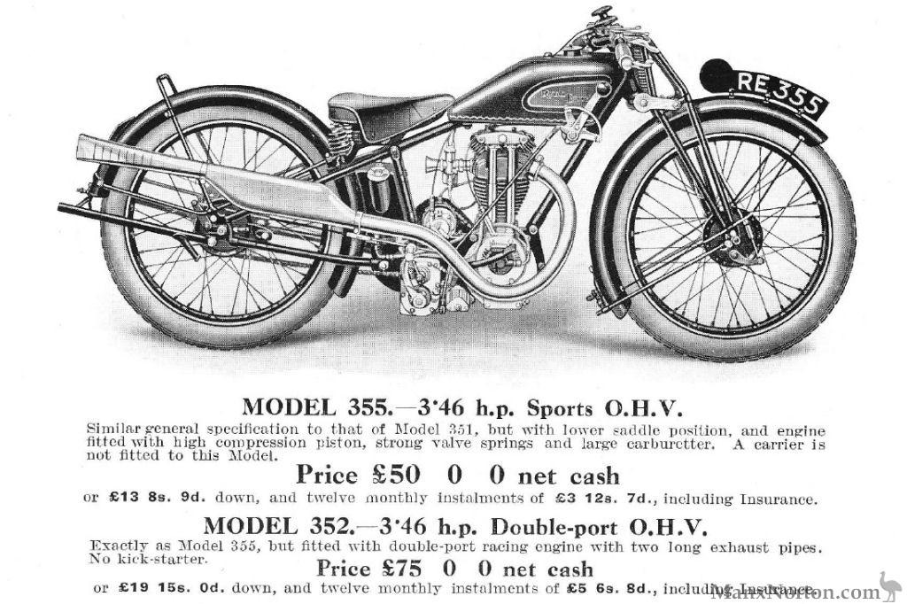 Royal Enfield Model 355 346cc OHV 1928
