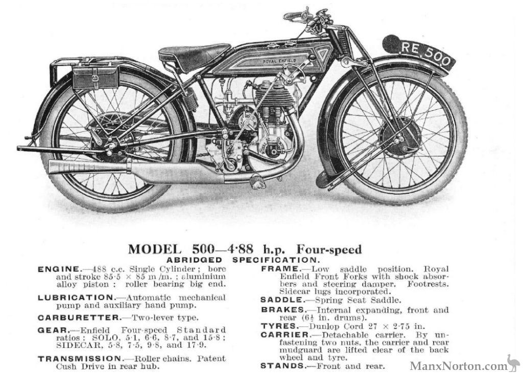 Royal Enfield Model 500 1928