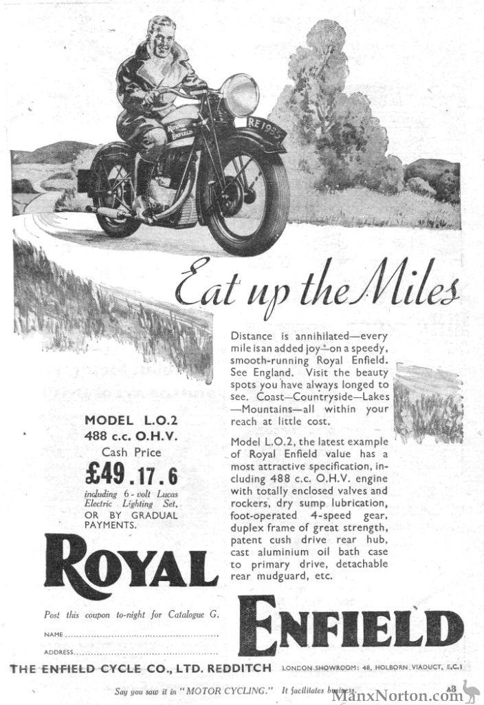 Royal Enfield 1935 June 5th Model LO