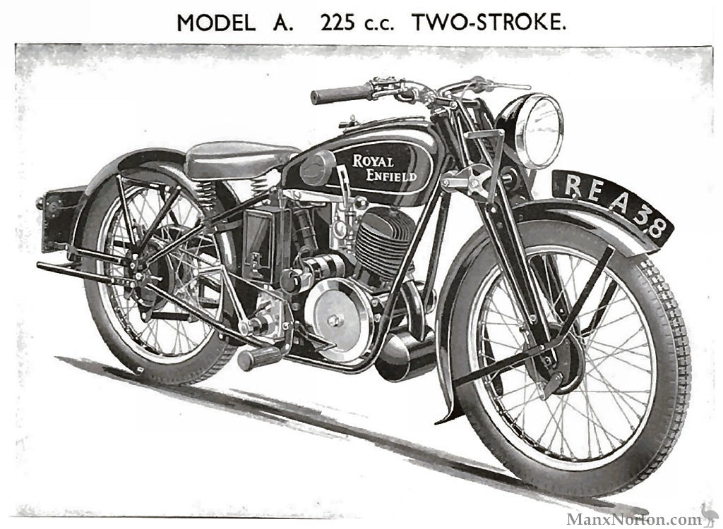 Royal Enfield 225cc Model A Two-stroke 1938