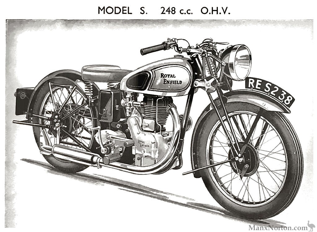 Royal Enfield 248cc Model S OHV 1938