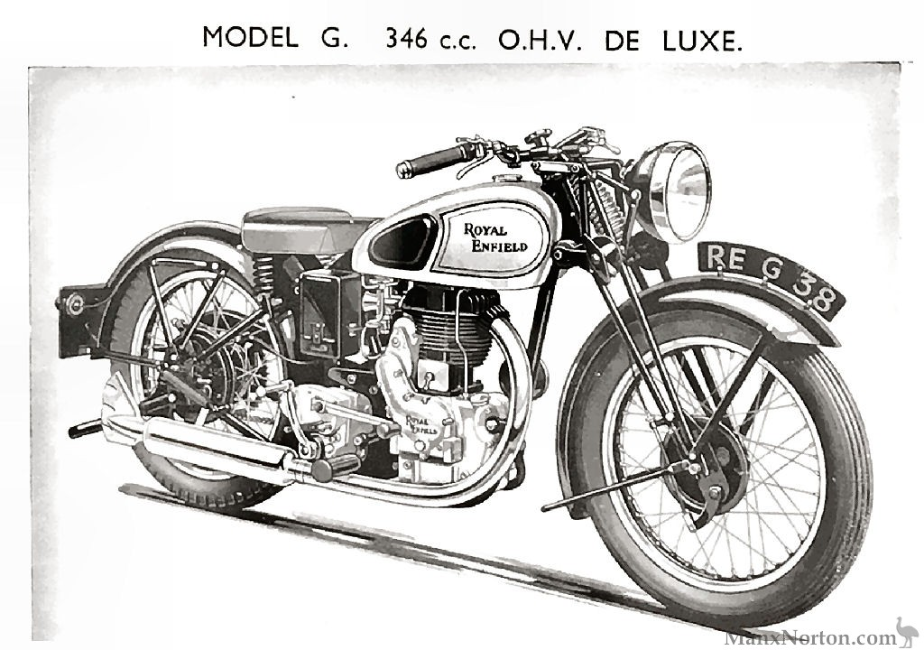 Royal Enfield 346cc OHV Model G 1938