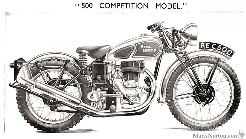 Royal Enfield 500cc Competition 1938