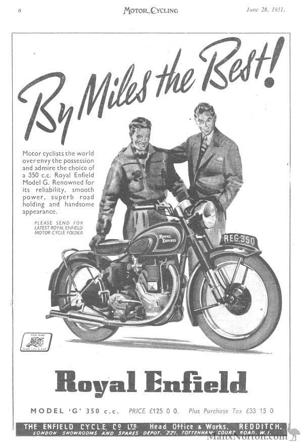 Royal Enfield 1951 Model G