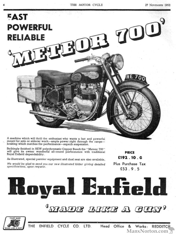 Royal Enfield 1952 Meteor 700