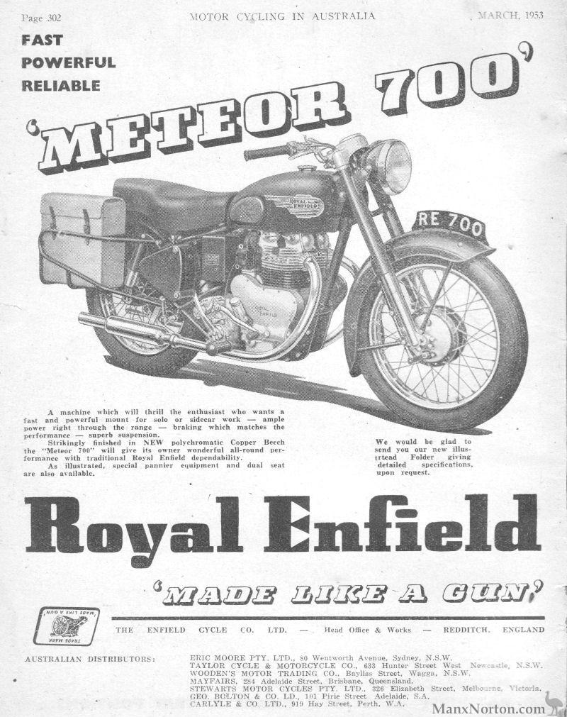 Royal Enfield 1953 Australia