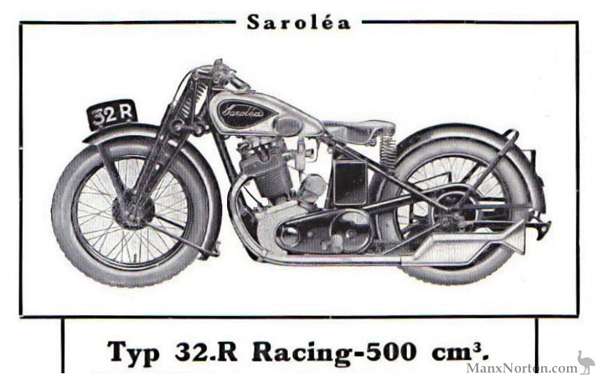Sarolea 1932 Racing 500cc 32R