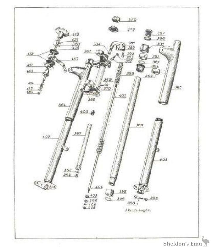 Sarolea 1948 AS Telescopic Forks