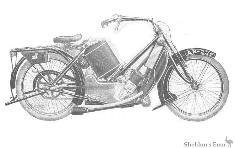 Scott 1913 Motorcycle