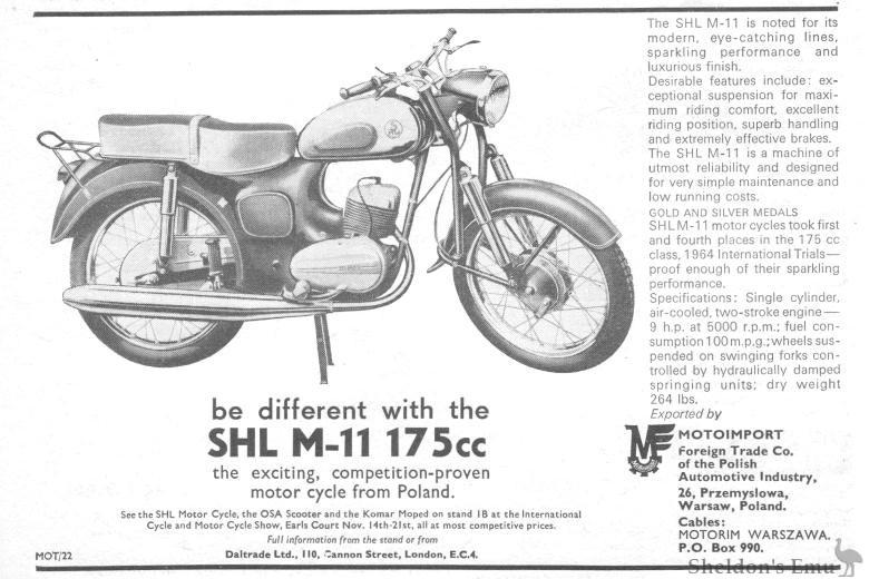 SHL 1964 Motorcycle