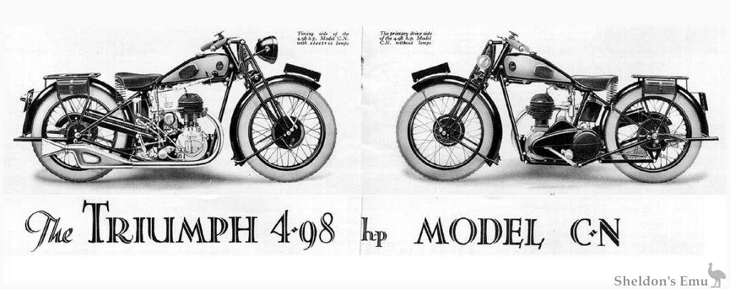 Triumph Model CN 4.98hp 1930