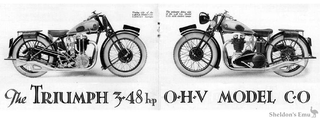 Triumph Catalogue 1930 OHV Model CO