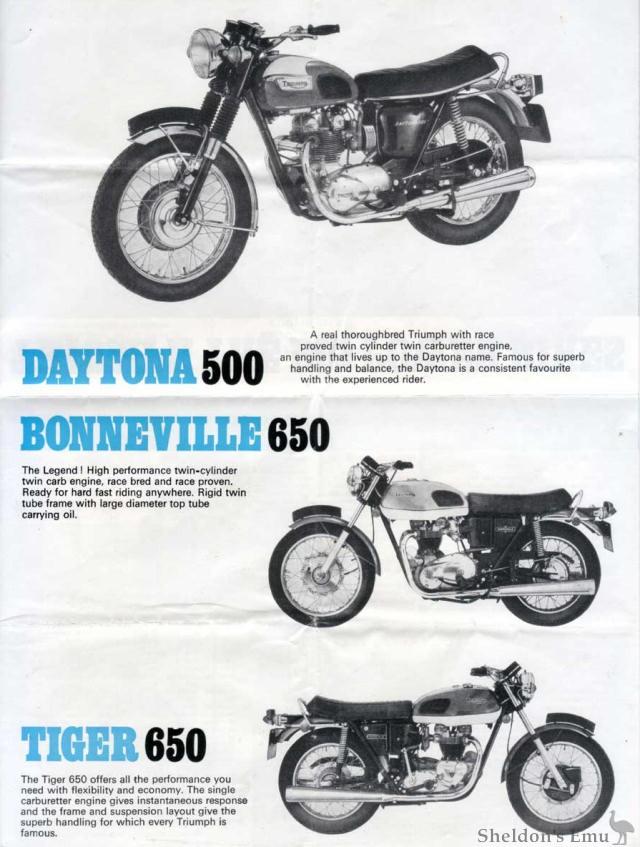 Triumph Daytona Bonneville Tiger 1973