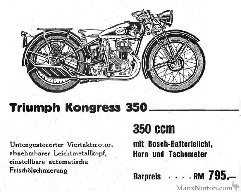 Triumph 1934 Kongress 350