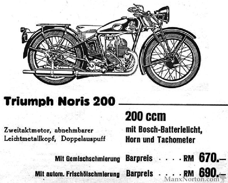 Triumph 1934 Noris 200