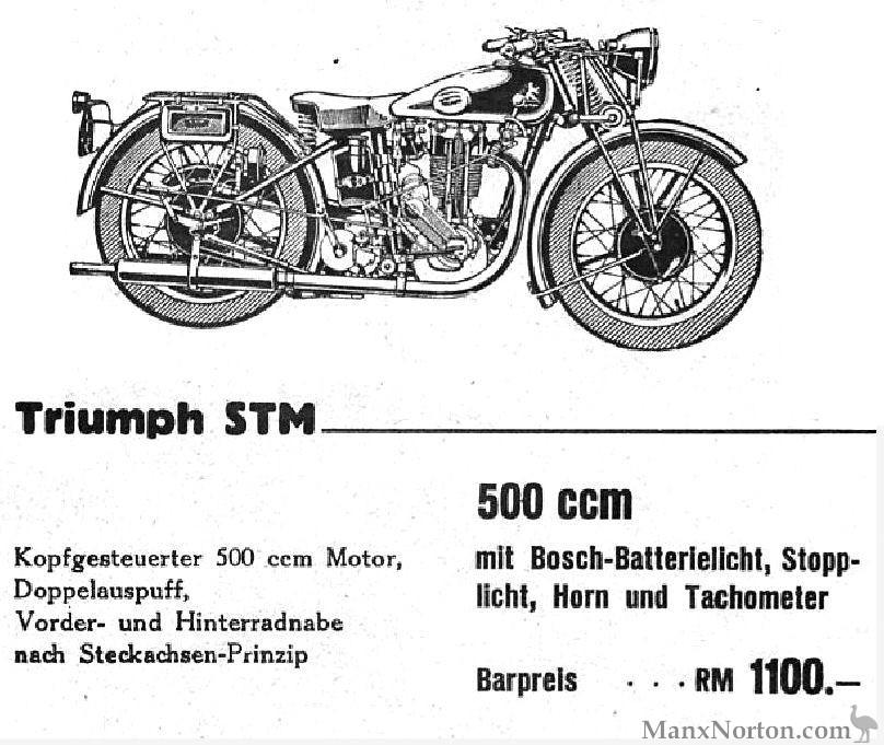 TWN Triumph Modell STM 500 1932-1937