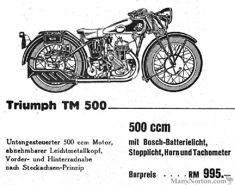 Triumph 1934 TM 500