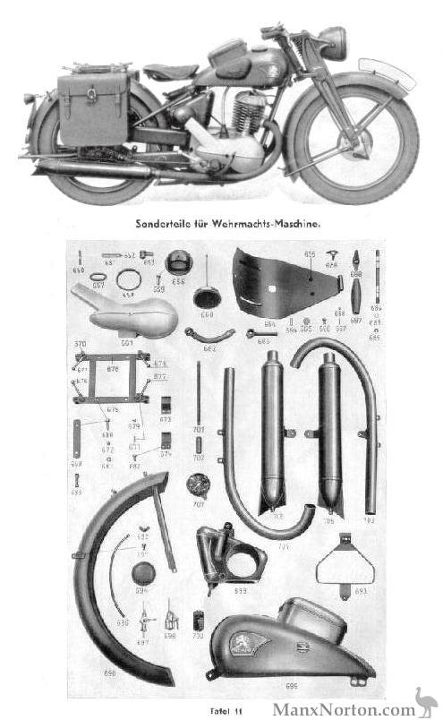 TWN BD Wehrmacht Parts Diagram